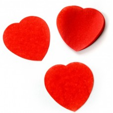 Oh!FX Confetti HEARTS Red